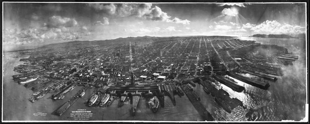 George Lawrence's famous photo San Francisco in Ruins