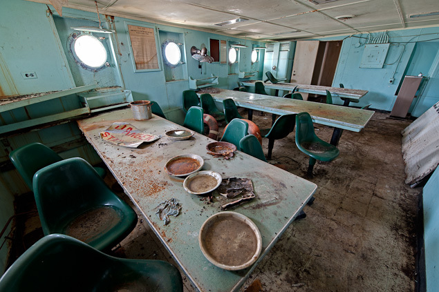 Inside the ghost ships of the mothball fleet beyond the for Comedor sea aletica