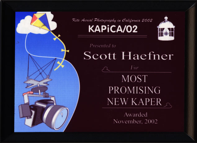 KAPiCA/02 Award Plaque: Most Promising New KAPer