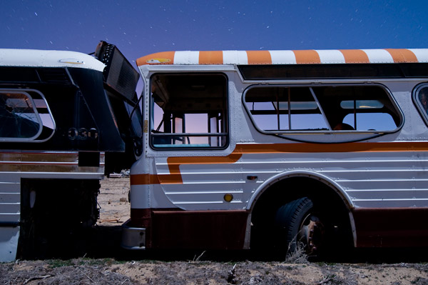 Photo by Scott Haefner: Candy Cane Bus