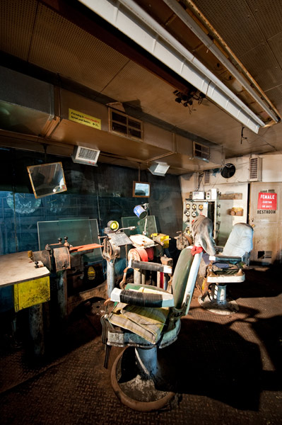 Photo by Scott Haefner: Barbershop Control Room