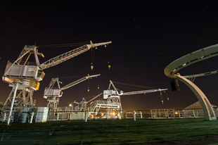 Photo by Scott Haefner: Cranes and Pulleys