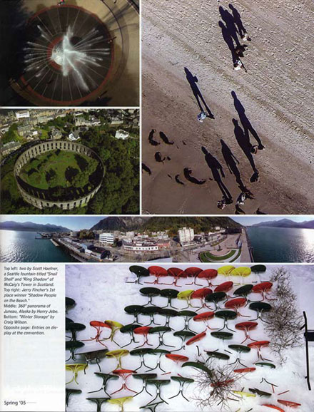 page from Kiting Magazine showing the winning photos